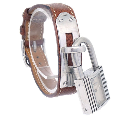 Hermes Kelly watch Ladies Quartz Wristwatch Watch Lisee Brown