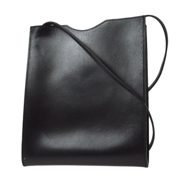 HERMES ONIMAITOU Shoulder Bag Black Box Calf