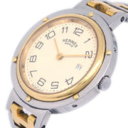 HERMES Clipper Date Mens Quartz Wristwatch Stainless steel