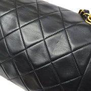 CHANEL Small Diana Single Chain Shoulder Bag Black