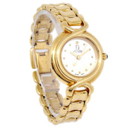 FENDI 700L Ladies Quartz Wristwatch Watch Gold plated 3ATM