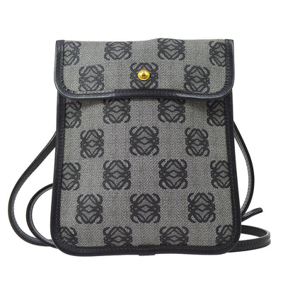 LOEWE Anagram Shoulder Bag Pochette Gray