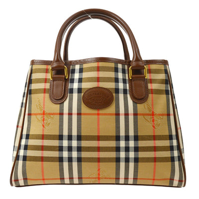BURBERRY'S Horse Check Hand Tote Bag Beige