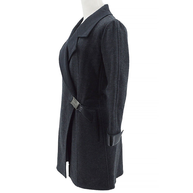 CHANEL 00A #36 Double Breasted Coat Jacket Gray