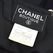 CHANEL 97P #36 One Piece Dress Skirt Black