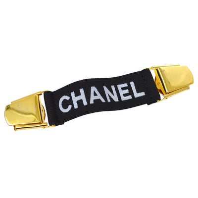 CHANEL Arm Band Belt Black