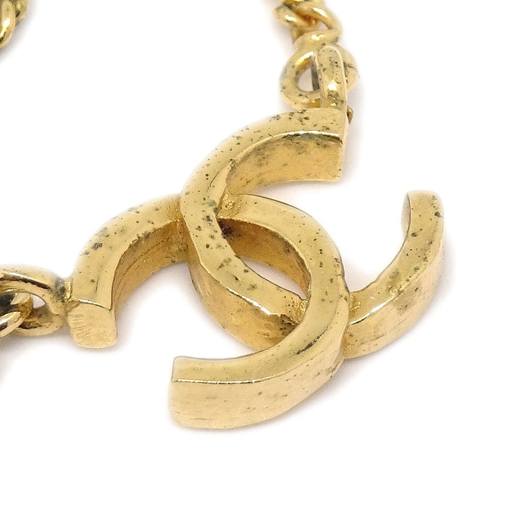 CHANEL CC Gold Chain Pendant Necklace 1982