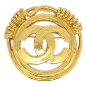 CHANEL Brooch Pin Corsage Gold 94P
