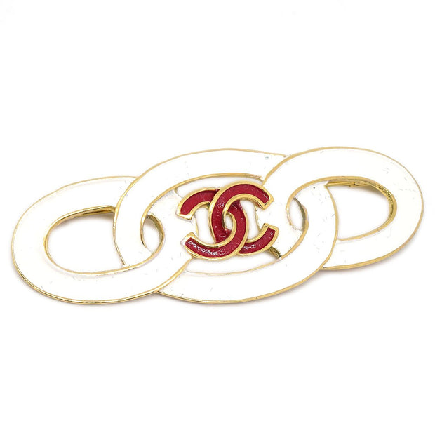 CHANEL Brooch Pin Corsage WhIte 93C