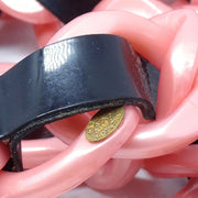 CHANEL Plastic Chain Belt Black Pink 04P