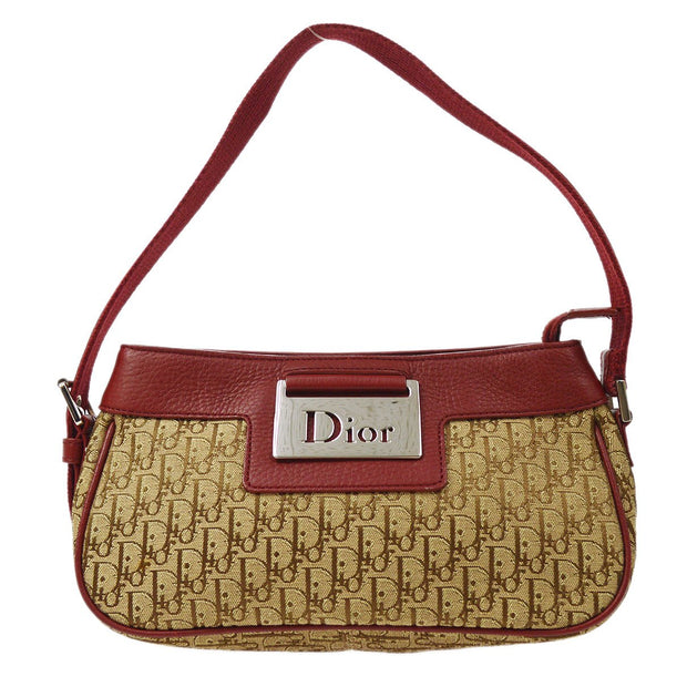 Christian Dior Street Chic Trotter Hand Bag Brown Bordeaux