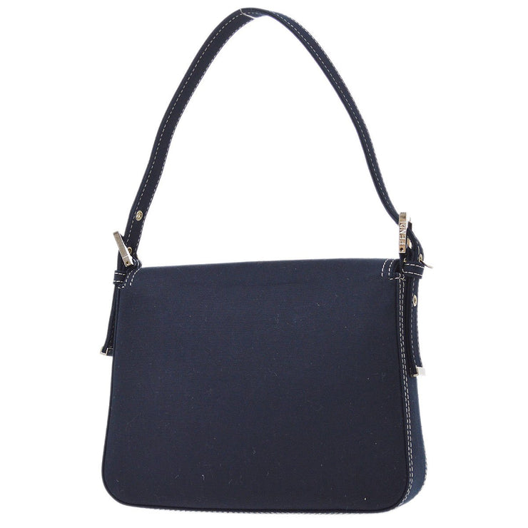 FENDI Marble Metal Hand Bag Navy