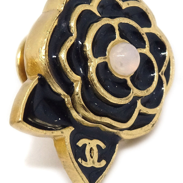 CHANEL CC Camellia Pumps Brooch Pin Corsage Black 3Set