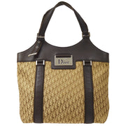 Christian Dior Street Chic Trotter Hand Tote Bag Brown