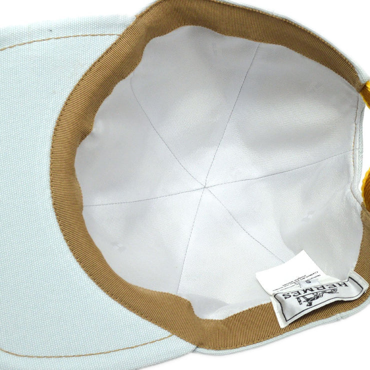 HERMES Hat Cap Headwear Light Blue