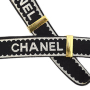 CHANEL Suspenders Black