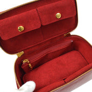 LOUIS VUITTON VERNIS JEWELRY CASE VANITY BAG POMME D'AMOUR M91273