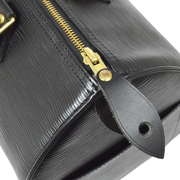 LOUIS VUITTON SPEEDY 30 HAND BAG BLACK EPI M59022