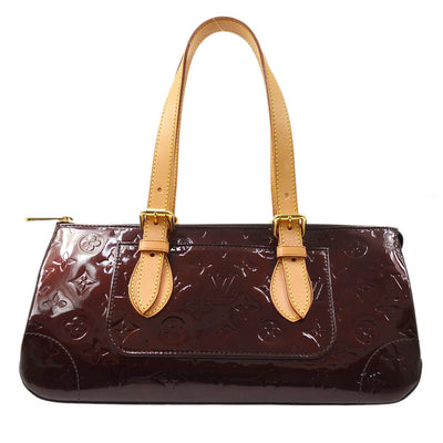 LOUIS VUITTON VERNIS ROSEWOOD AVENUE HAND BAG AMARANTE M93510