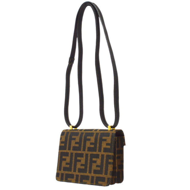FENDI Zucca Mini Shoulder Bag Brown