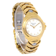 Christian Dior 3030 Ladies Quartz Wristwatch Watch Gold Silver