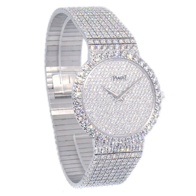 PIAGET Dancer 90256C626 Manual-winding Ladies Wristwatch WG750 Diamond Bezel
