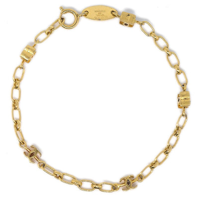 CHANEL Mini CC Gold Chain Bracelet 1982