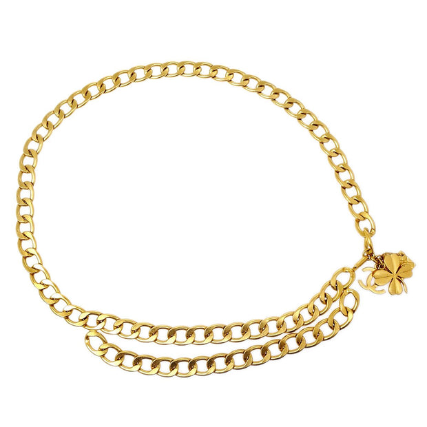 CHANEL Icon Gold Chain Belt 95A