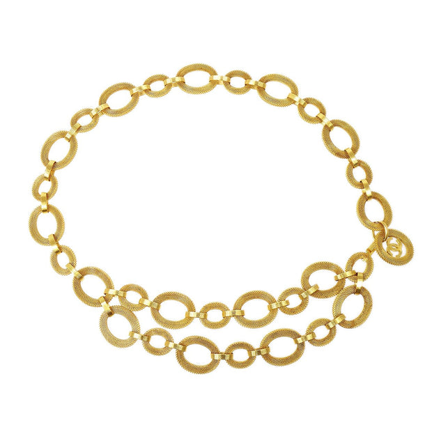 CHANEL Medallion Gold Chain Belt 25