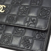 CHANEL WOC Icon Chain Shoulder Wallet Bag Black