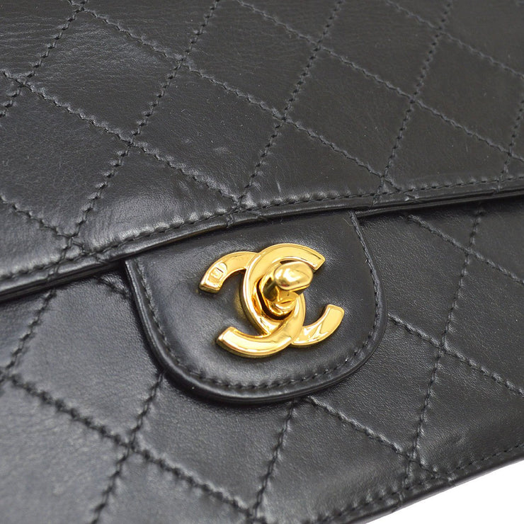 CHANEL Double Chain Shoulder Bag Black