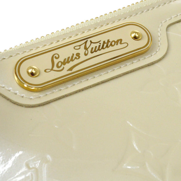 LOUIS VUITTON VERNIS POCHETTE CLES NM COIN CASE PURSE WALLET PERLE M93558
