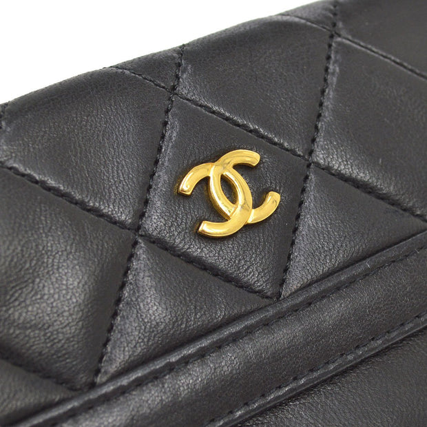 CHANEL Coin Purse Wallet Black