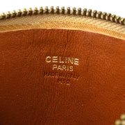 CELINE Macadam Pattern Coin Wallet Brown