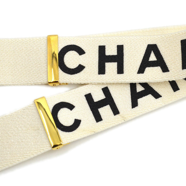 CHANEL Suspenders White Small Good