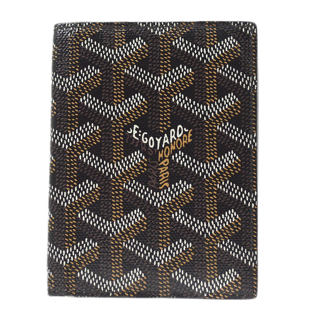 GOYARD St. Marc Card Holder Case Black Small Good