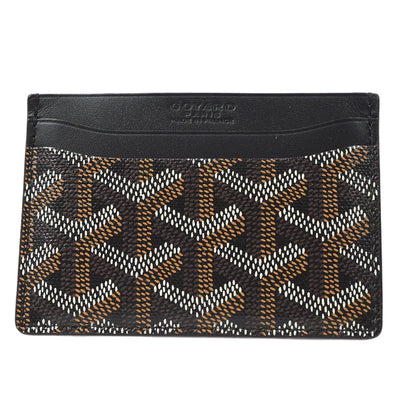 GOYARD Saint Sulpice Card Holder Case Black Small Good