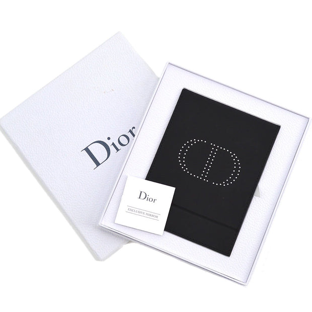 Christian Dior Logos Folding Mirror Black Small Good