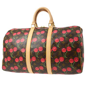 LOUIS VUITTON Duffle KEEPALL 45 TRAVEL HAND BAG MONOGRAM CHERRY M95011