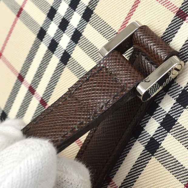 BURBERRY Classic Check Hand Bag Beige