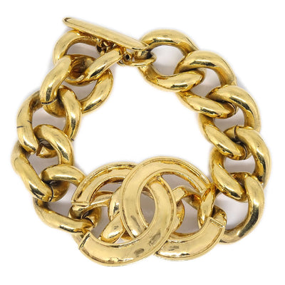 CHANEL Gold Chain Bracelet 94P
