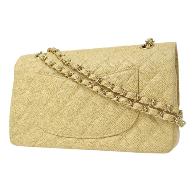 CHANEL Classic Double Flap Medium Chain Shoulder Bag Caviar Skin