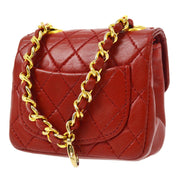 CHANEL Classic Flap Micro Bum Belt Bag Red
