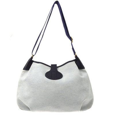 HERMES Rodeo 2 Shoulder Bag Gray Toile H