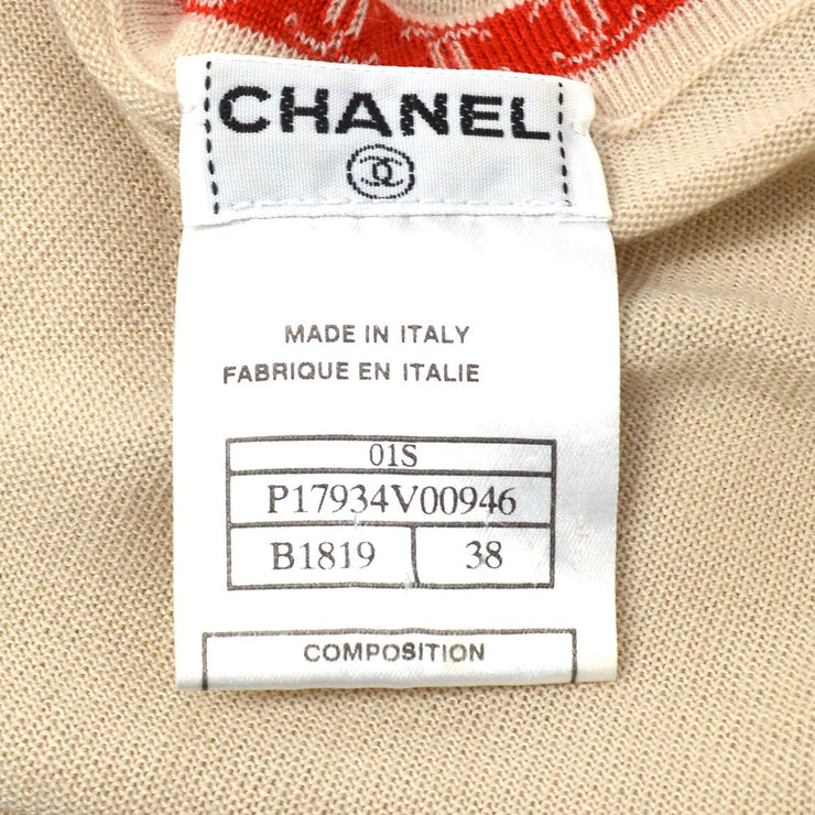 CHANEL 01S #38 Sleeveless Tops Beige