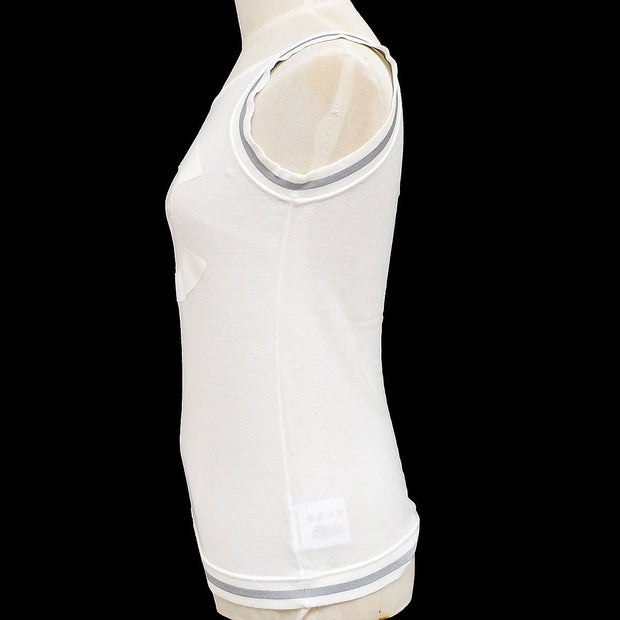 CHANEL 06C #38 Sport Line Sleeveless Tops White