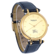 Burberrys OF LONDON 3200 Ladies Quartz Wristwatch Watch Gold Plated Black