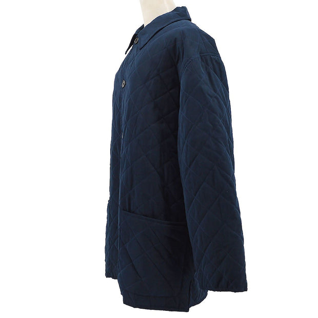 HERMES Coat Navy #52