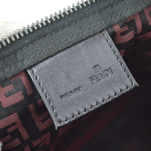 FENDI Zucchino Pattern Hand Bag Red