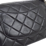 CHANEL Classic Flap Mini Square Chain Shoulder Bag Black